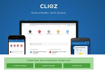Startseite CLIQZ