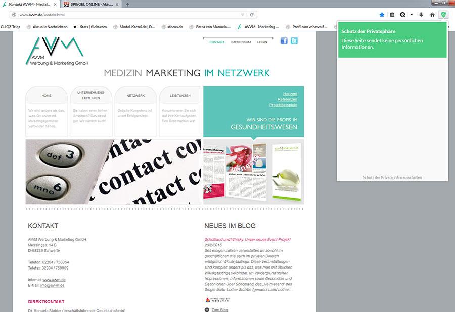 cliqz Screenshot AVVM.de