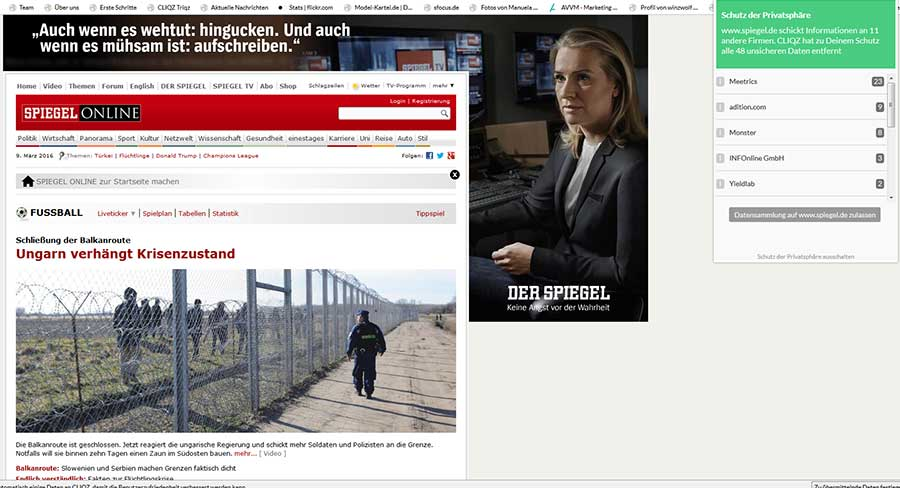 Cliqz Screenshot spiegel.de