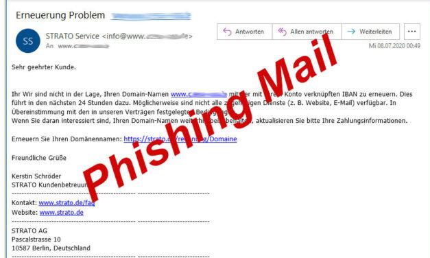 Phishing-Mails im Umlauf